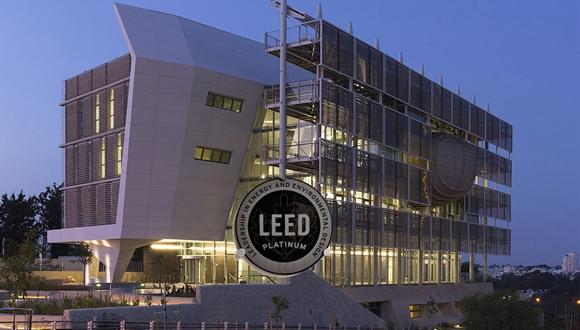 גאווה ירוקה - בניין הקפסולה קיבל את הדירוג הגבוה ביותר של התקן האמריקאי לבנייה ירוקה!
