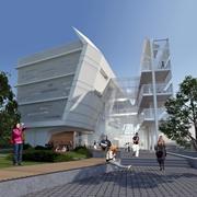 הדמיה - בנין הקפסולה - בית ספר פורטר ללימודי הסביבה